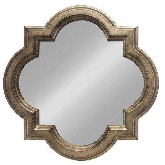 Threshold quatrefoil clover decorative wall mirror